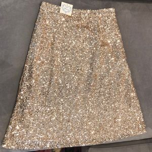 Gold Sequin BRAND NEW TAGS ON midi skirt